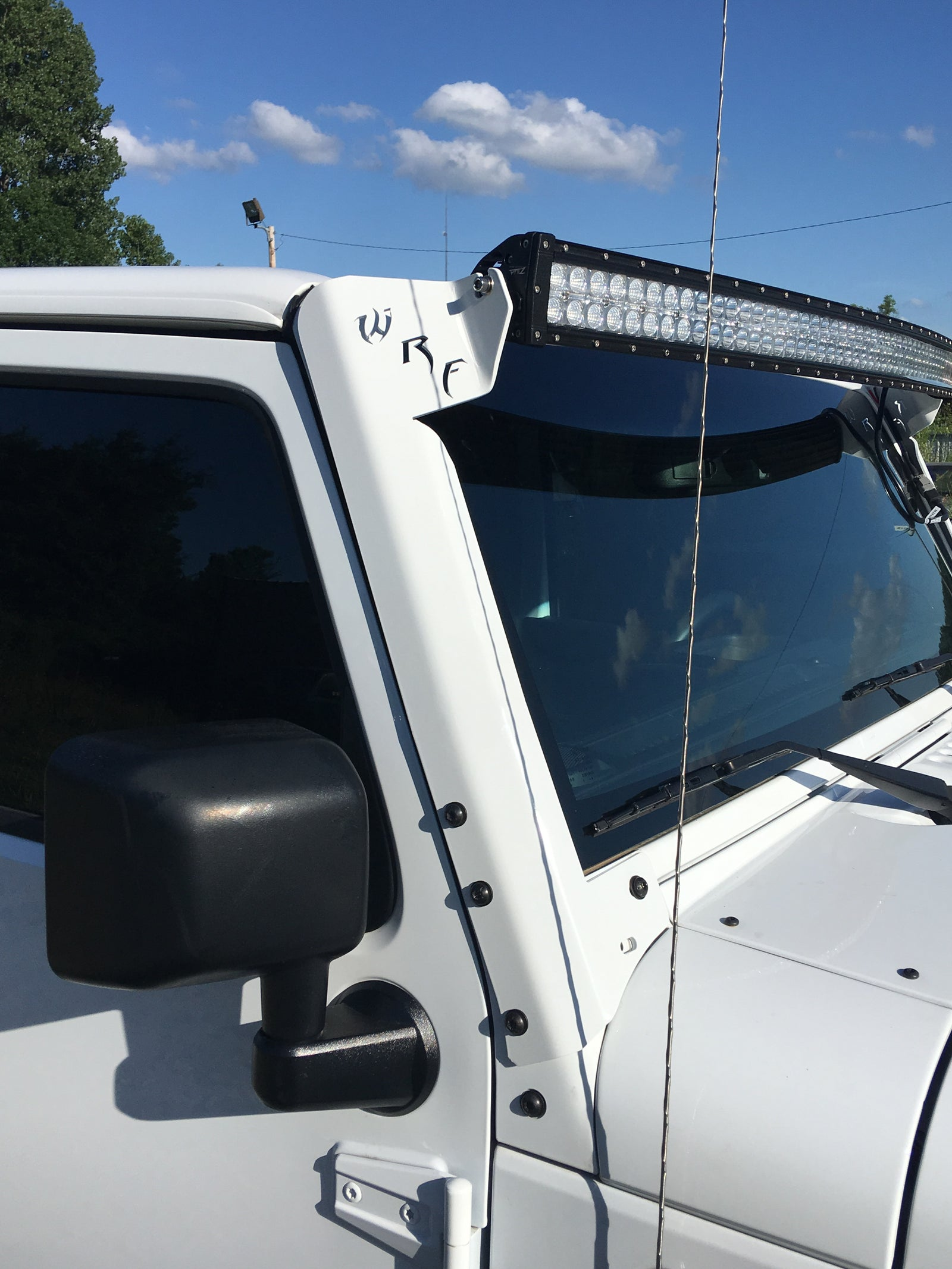 Jk Windshield Light Bar Brackets White Rhino Fabrication