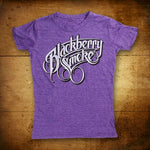 Blackberry Smoke Script Heather Purple Ladies T-Shirt