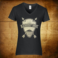 Arrows V-Neck Black Ladies T-Shirt