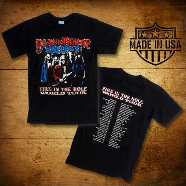 Fire In The Hole Black Tour T-Shirt