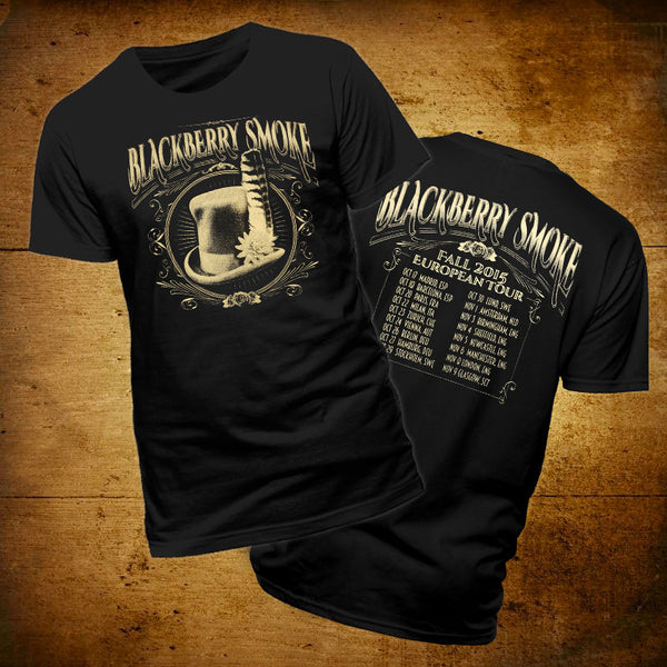 Blackberry Smoke (Feather 2015 Tour) Black T-Shirt