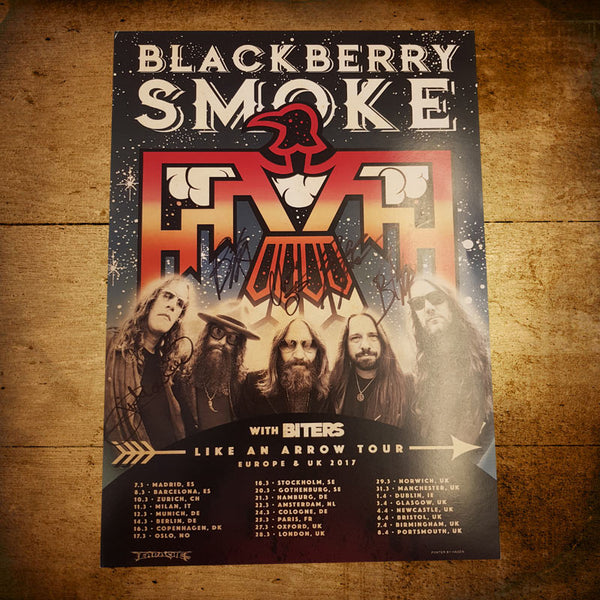 Blackberry Smoke (Like An Arrow) Tour Poster *SIGNED*