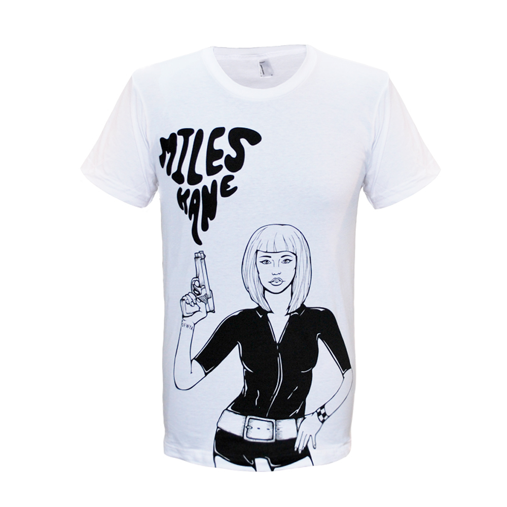 Miles Kane (Gun Girl) White T-Shirt