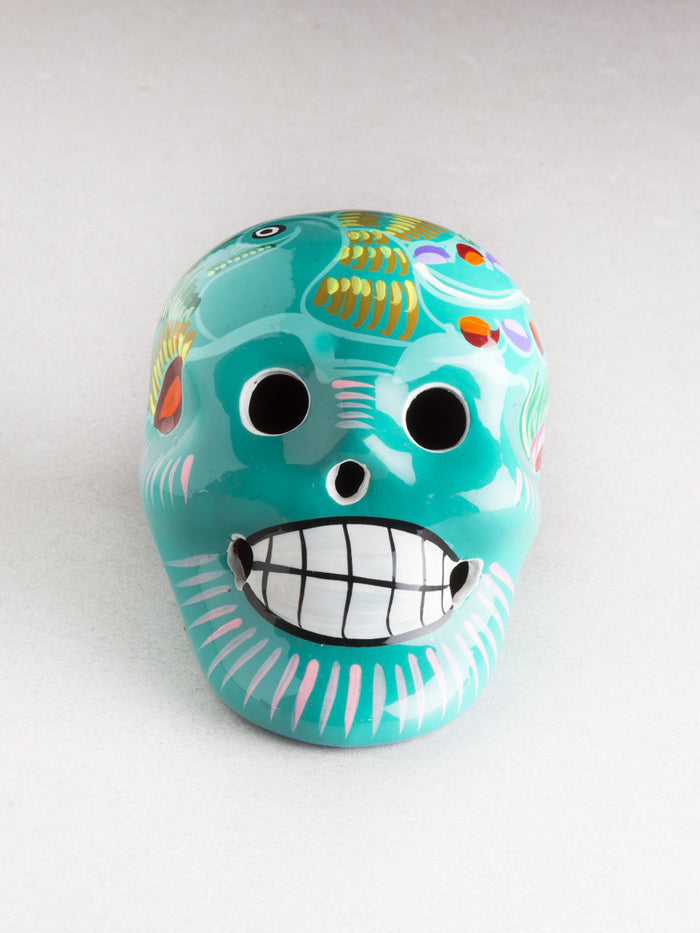 PAINTED CLAY SKULL (Multiple Colors Available)