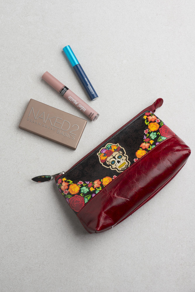 Leather Cosmetic Bag (Multiple Colors Available)