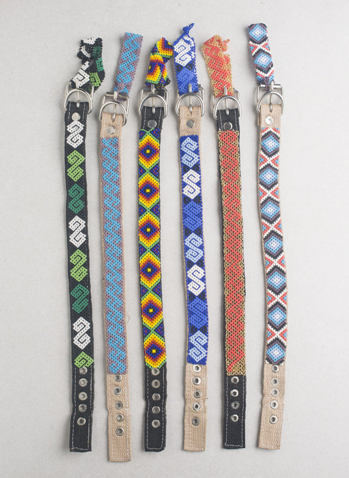 Huichol Art Dog Collars (Multiple Sizes and Styles)