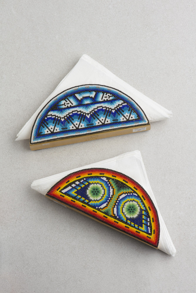 Huichol Art Metal Napkin Holder (Multiple Colors Available)