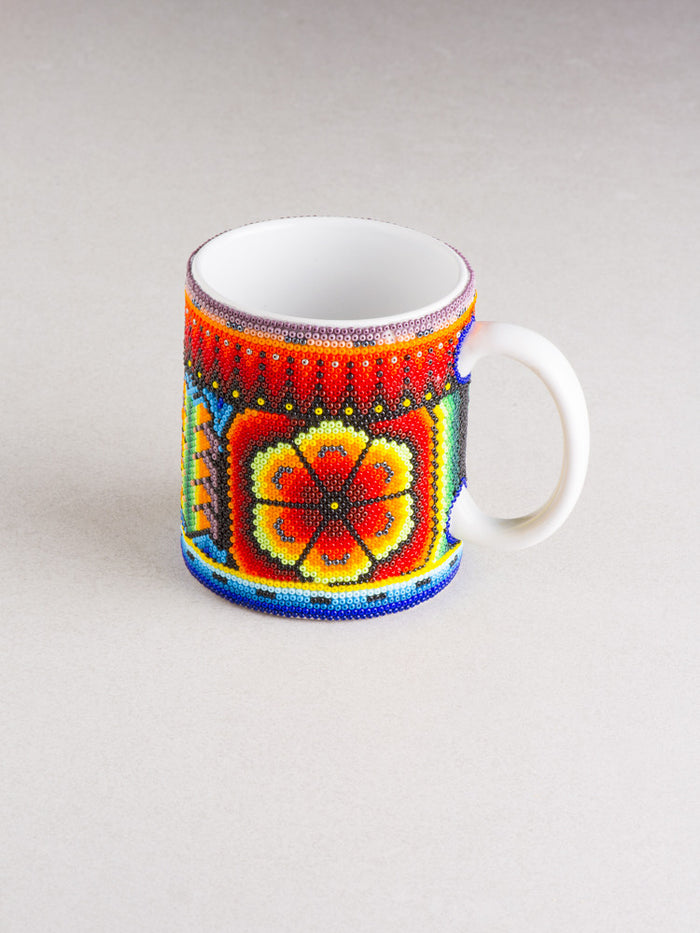 Huichol Art Ceramic Mug (Multiple Colors Available)