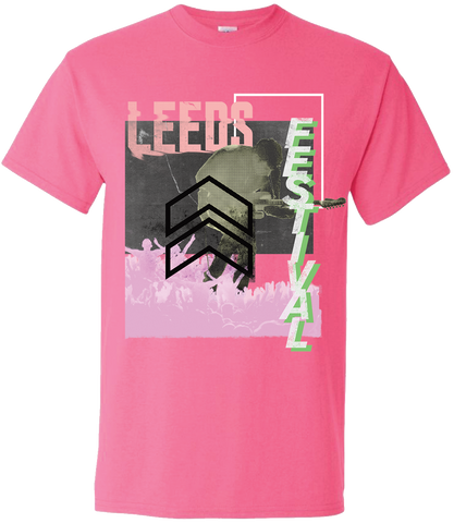 Leeds Festival 2017 'Cut Zine Up' Pink T-Shirt