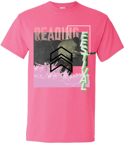 Reading Festival 2017 'Cut Zine Up' Pink T-Shirt