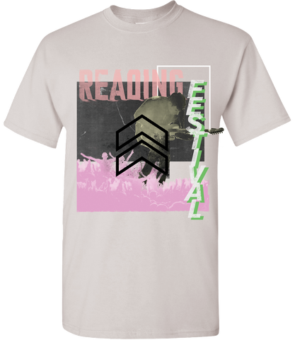 Reading Festival 2017 'Cut Zine Up' White Marl T-Shirt