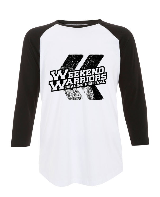 Reading Festival 2015 (Weekend Warriors) White/Black Baseball T-Shirt