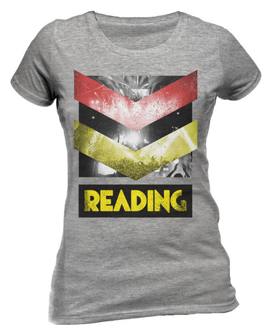 Reading Festival 2015 (Crowd Chevron) Grey Ladies T-Shirt