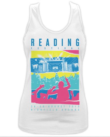Reading Festival 2015 (Torn Colour) Ladies White Vest