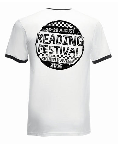 Reading Festival 2016 'Hand Drawn' White Ringer T-Shirt