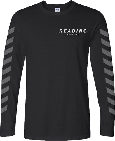 Reading Festival 2016 'Chevron' Black Long Sleeve T-Shirt