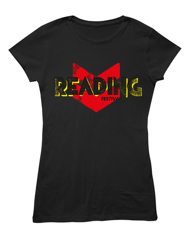 Reading Festival 2016 'Event Logo' Black Ladies T-Shirt