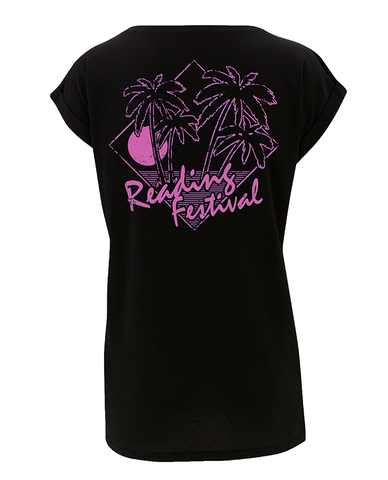 Reading Festival 2016 'Palms' Black Ladies T-Shirt