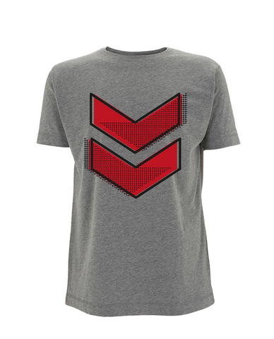 Reading Festival 2016 'Red Chevron Dots' Grey T-Shirt