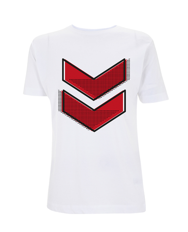 Reading Festival 2016 'Red Chevron Dots' White T-Shirt