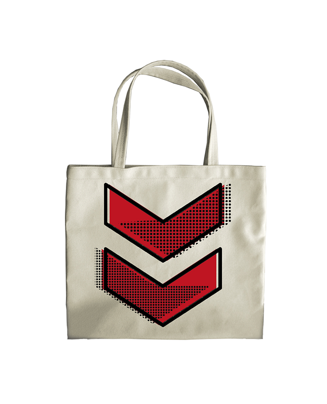 Reading Festival 2016 'Chevron Red Dots' Tote Bag
