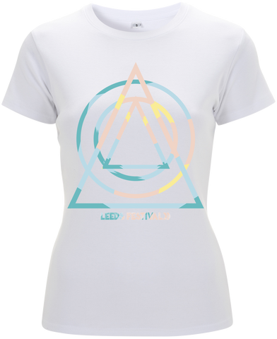 Leeds Festival 2017 'Summer Shapes' Ladies White T-Shirt