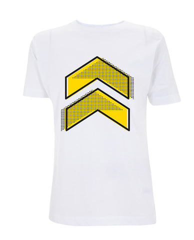 Leeds Festival 2016 'Yellow Chevron Dots' White T-Shirt