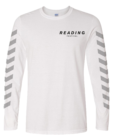 Reading Festival 2016 'Chevron' White Long Sleeve T-Shirt