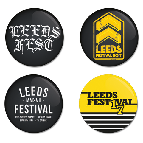 Leeds Festival 2017 Badge Set