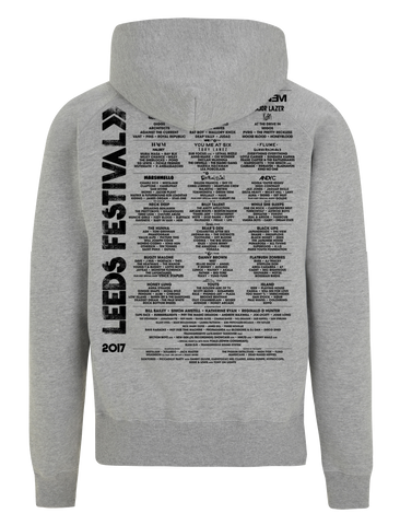 Leeds Festival 2017 'Stripes Event' Grey Zipped Hoodie