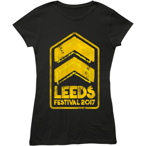 Leeds Festival 2017 'Stripes Event' Ladies Black T-Shirt