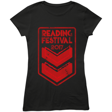 Reading Festival 2017 'Stripes Event' Ladies Black T-Shirt