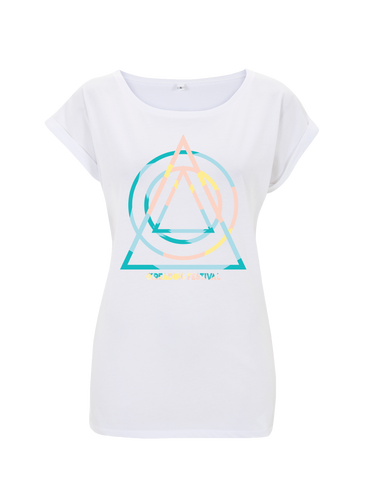 Reading Festival 2017 'Summer Shapes' Ladies White T-Shirt