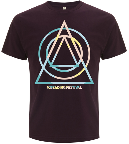 Reading Festival 2017 'Summer Shapes' Eggplant T-Shirt