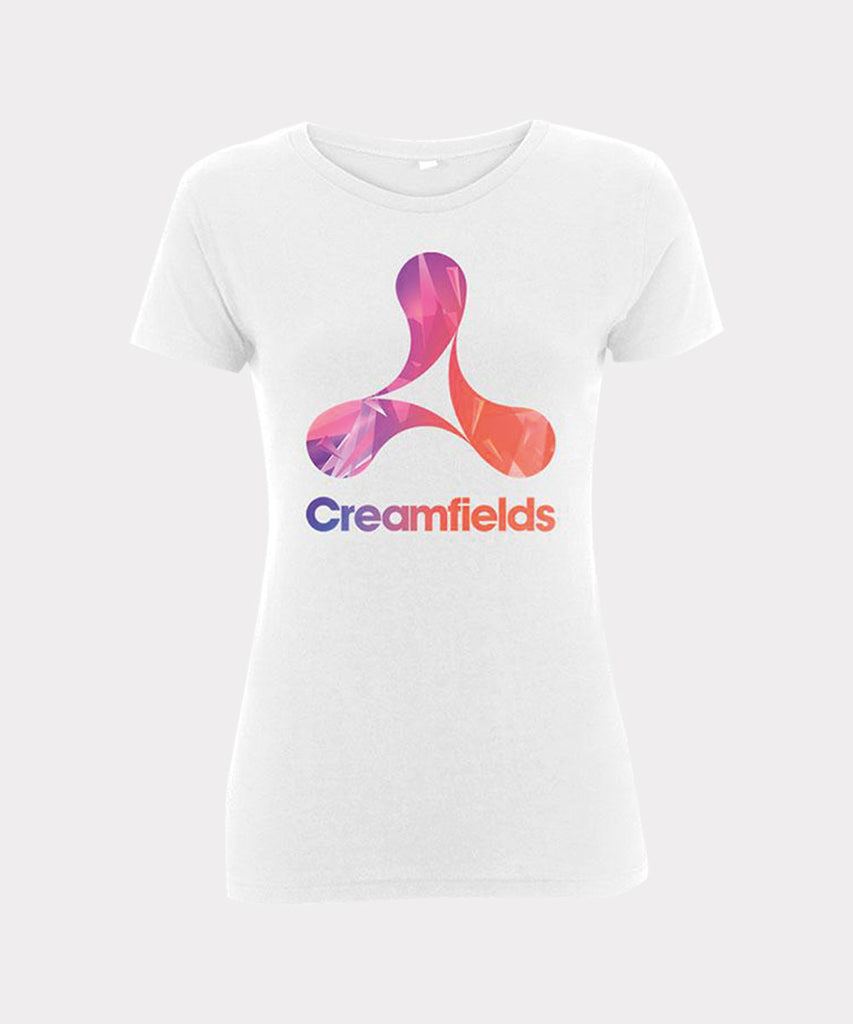 Patterned Logo Infill Ladies T-shirt