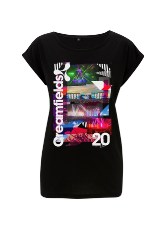 Creamfields (2017 Photo Distort) Black Ladies T-Shirt