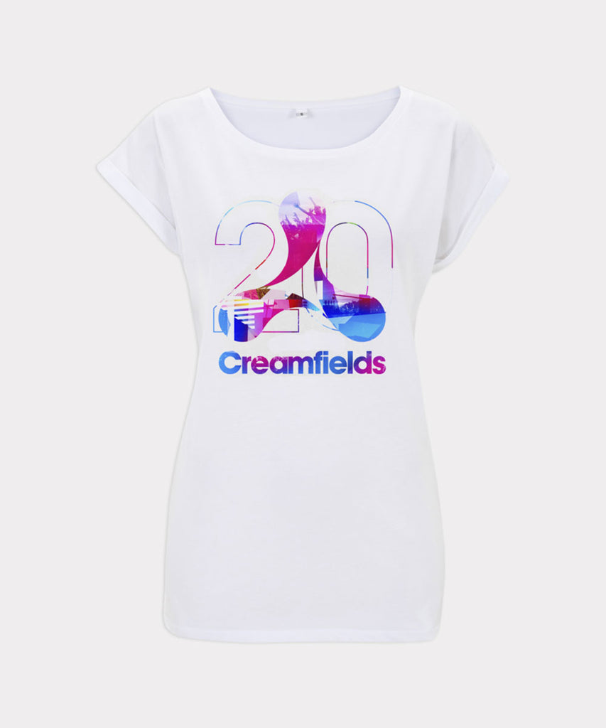 Blue Logo Infill Ladies T-Shirt