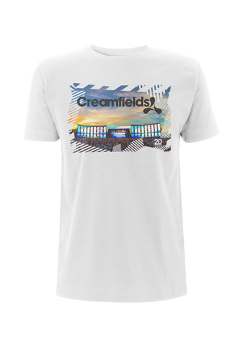 Creamfields (2017 Stage Photo Event) White T-Shirt