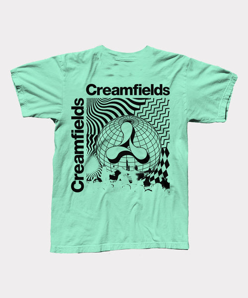 Creamfields Worldwide Mint Green Mens T-Shirt