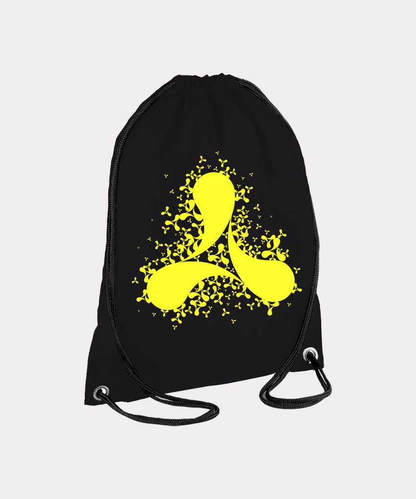 Scattered Black Gym Bag