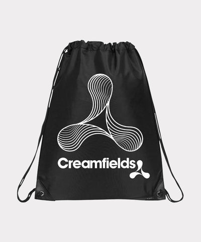 B&W Lined Logo Black Gym Bag
