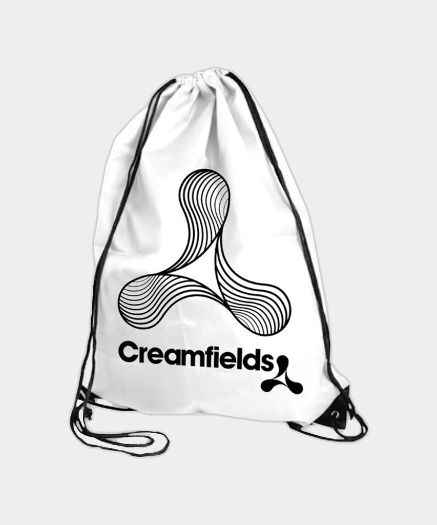 B&W Lined Logo White Gym Bag