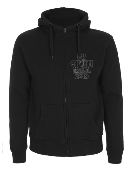 '2016 Outline Crest 2016' Black Zipped Hoodie