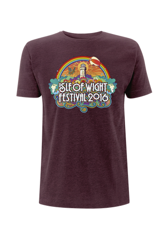 '2016 Rainbow Lighthouse' Youth Burgundy T-Shirt