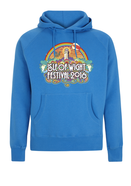 '2016 Rainbow Lighthouse' Blue Pullover Hoodie