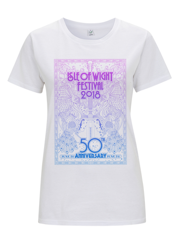 '2018 Psych Poster' Ladies White T-Shirt