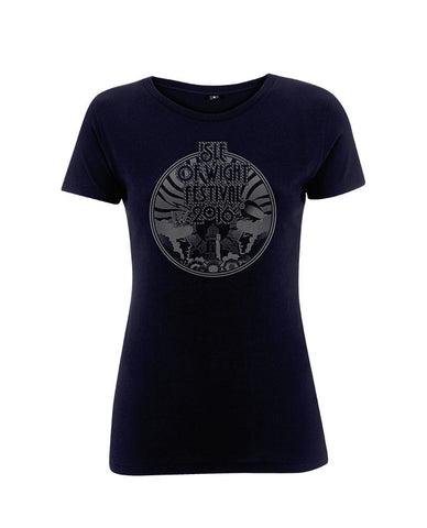 '2016 Lighthouse Outline' Ladies Navy T-Shirt