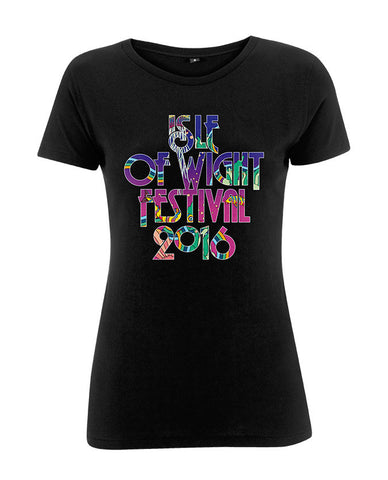 '2016 Underwater Type' Ladies Black T-Shirt