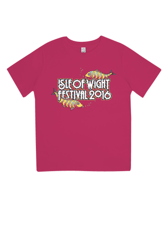 '2016 Fish Kids' Youth Pink T-Shirt