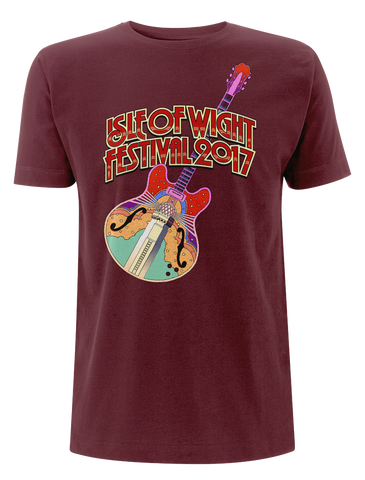 '2017 Guitar Colour' Burgundy T-Shirt
